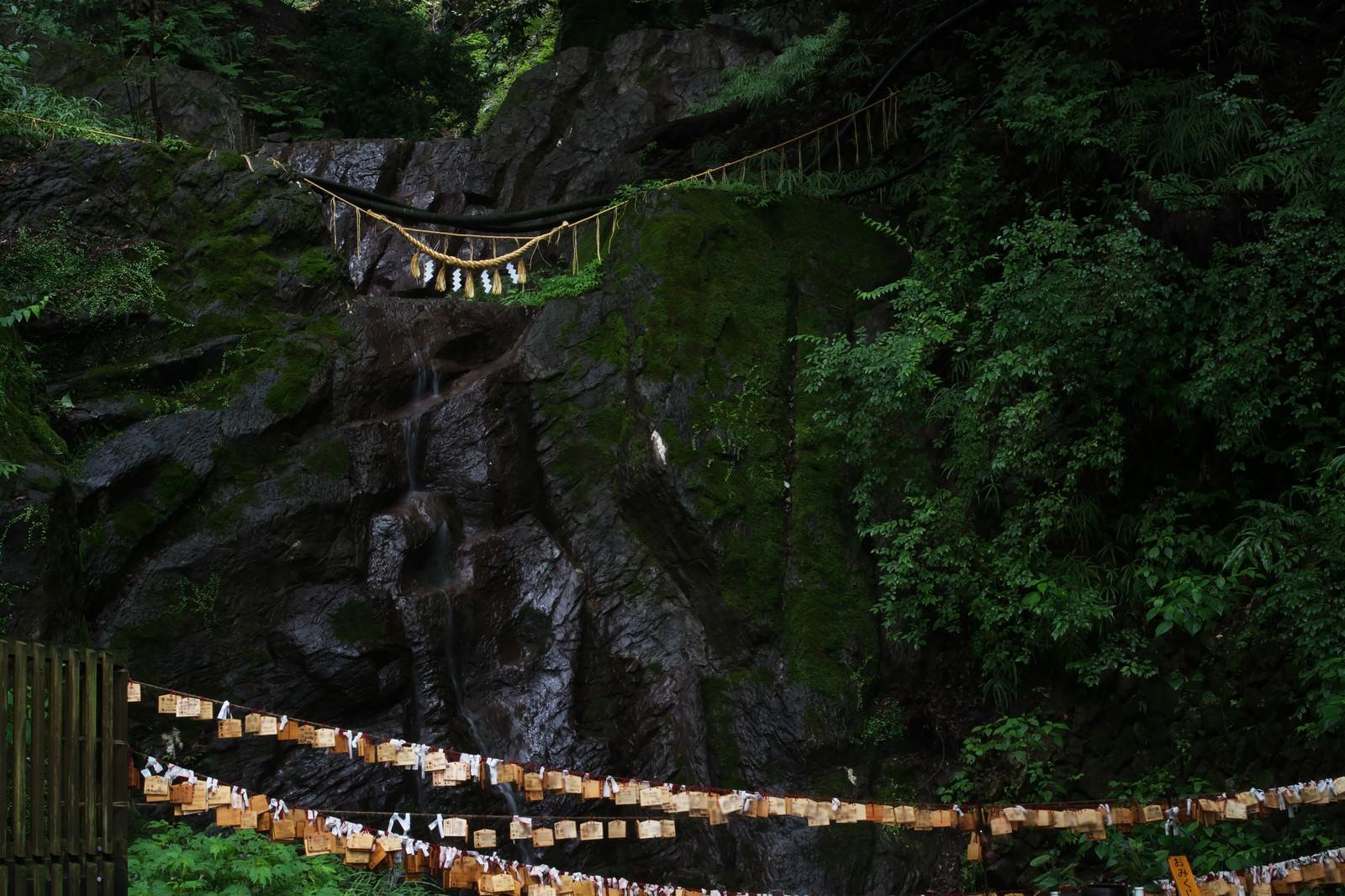 「岩から湧き出る聖なる水」の写真