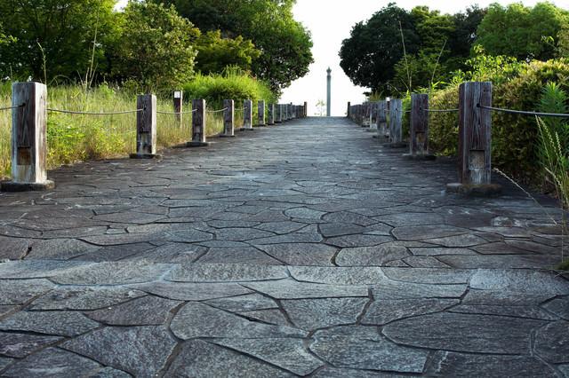 石畳の道の写真