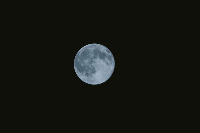 満月の夜の写真