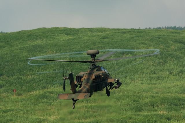 富士総合火力演習アパッチ(AH-64)の写真