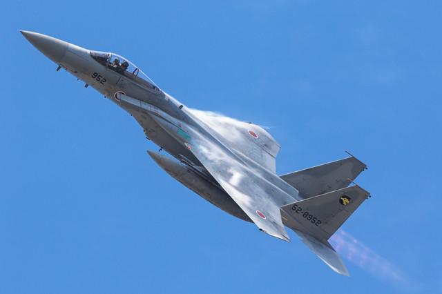 北陸の空を舞うF-15(306飛行隊)の写真