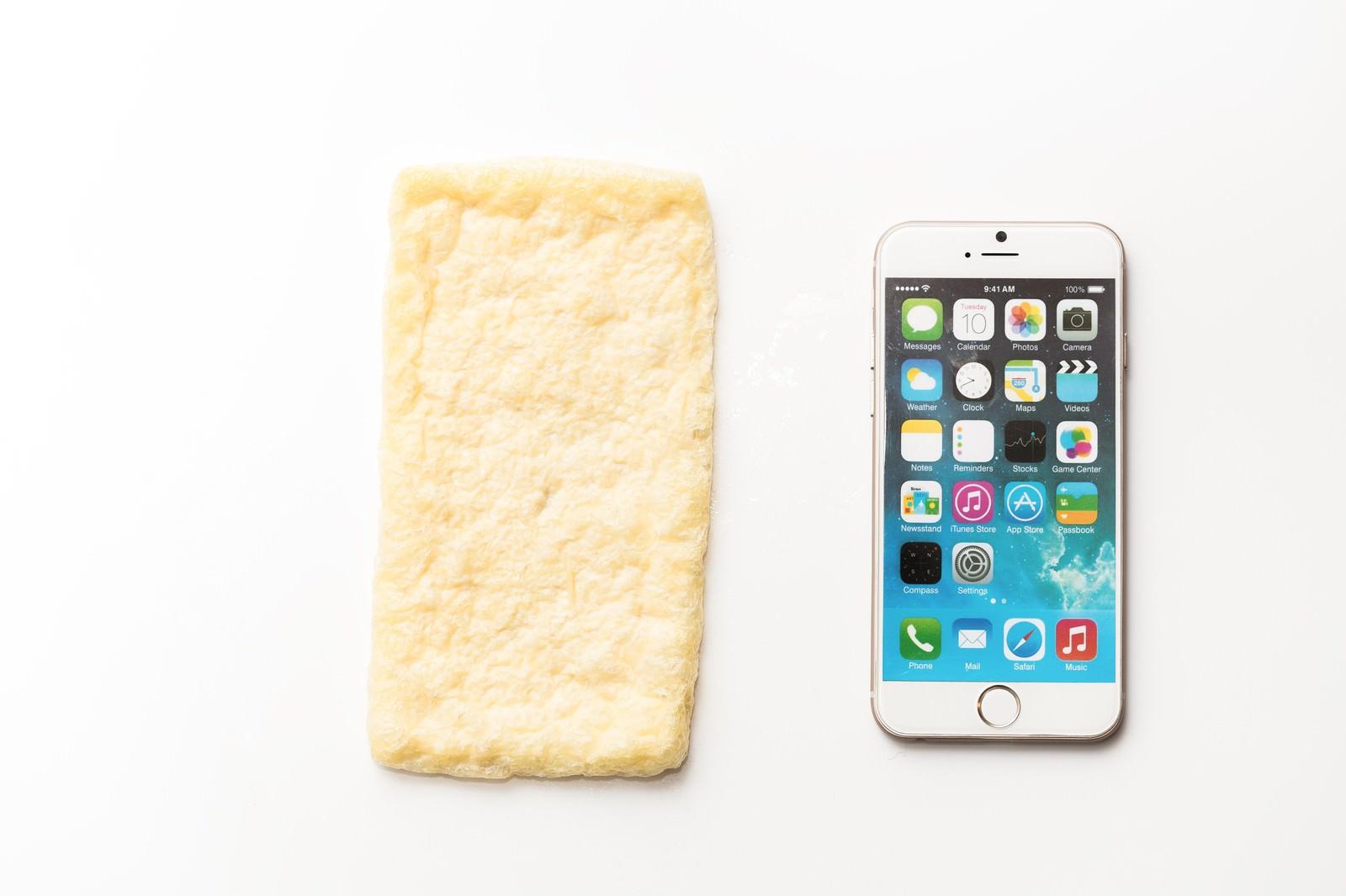 「あぶらあげとスマートフォン」の写真