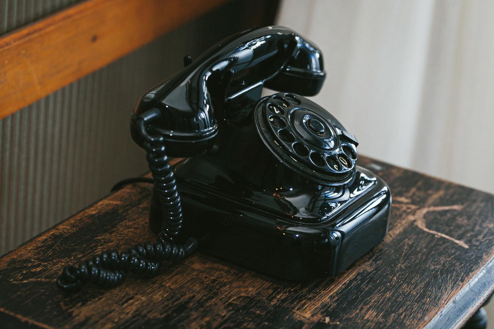 「昔なつかしい黒電話」の写真