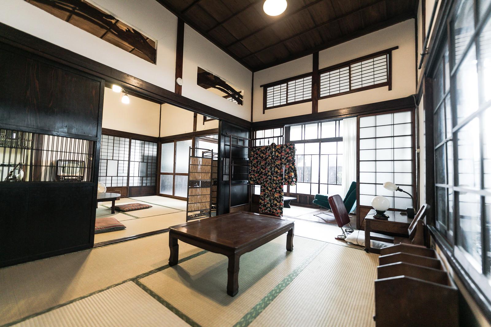 「古民家のノスタルジックな和室」の写真