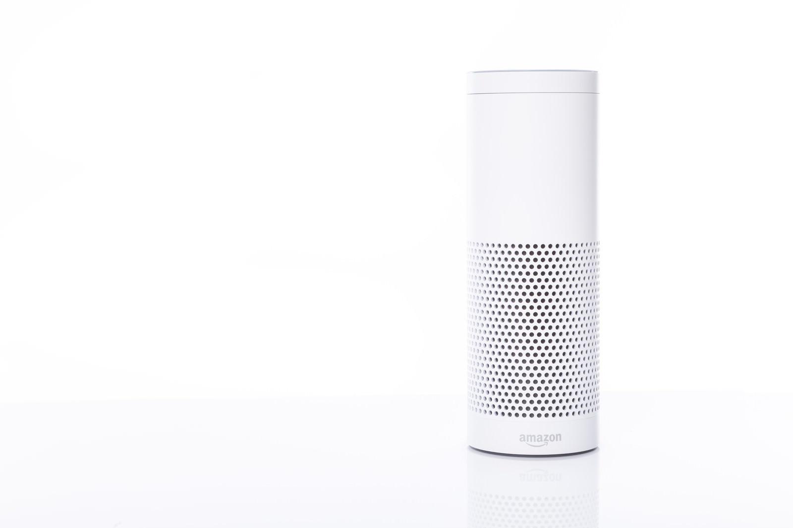 「音声アシストが可能なスマートスピーカー(Amazon Echo)」の写真
