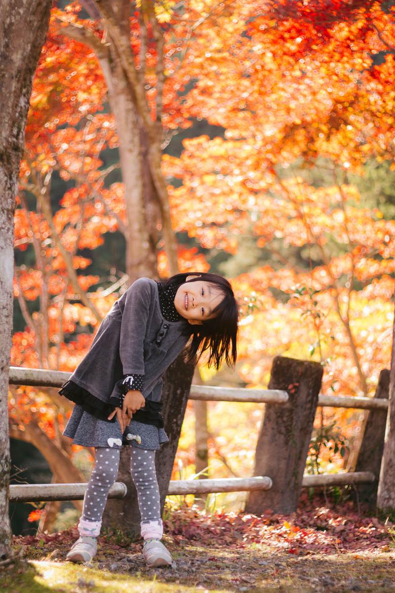 「紅葉と女の子紅葉と女の子」[モデル:あんじゅ]のフリー写真素材を拡大