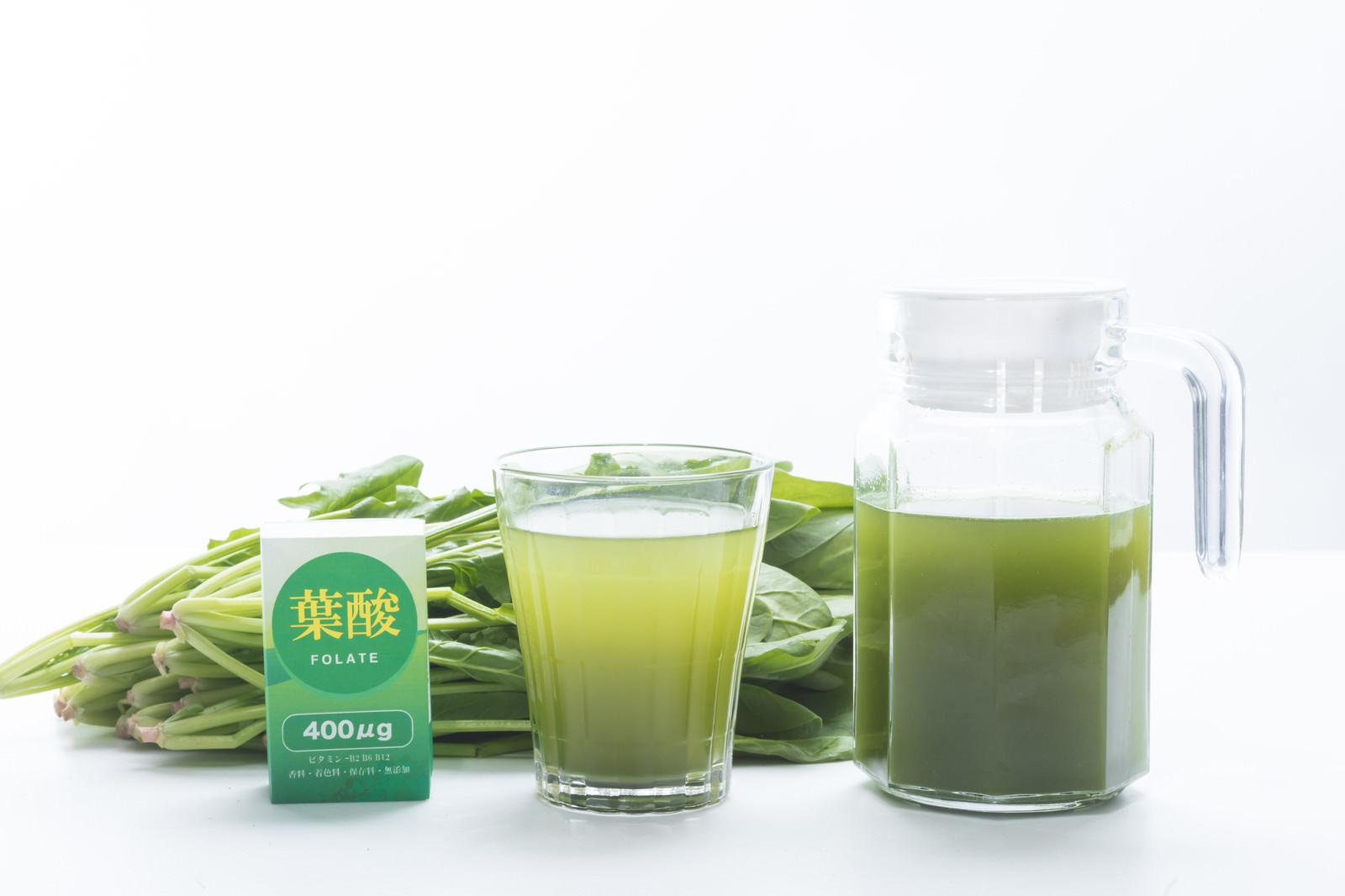 「葉酸を摂るなら青汁を飲もう」の写真