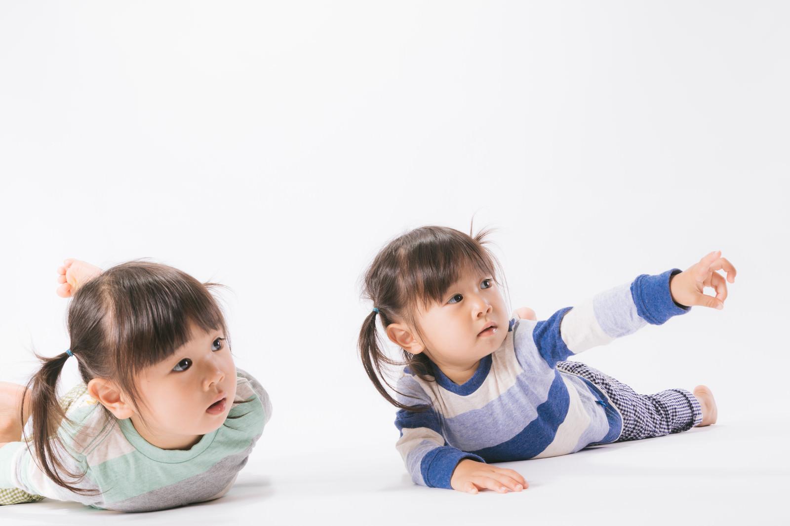 「言うことを聞かない双子も興味津々なご様子言うことを聞かない双子も興味津々なご様子」[モデル:あおみどり]のフリー写真素材を拡大
