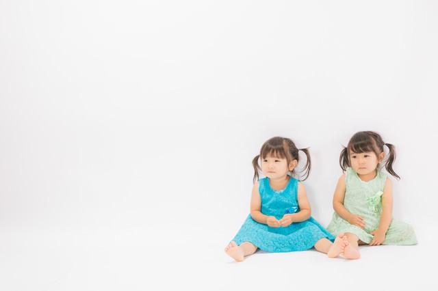 あおとみどりの双子姉妹の写真