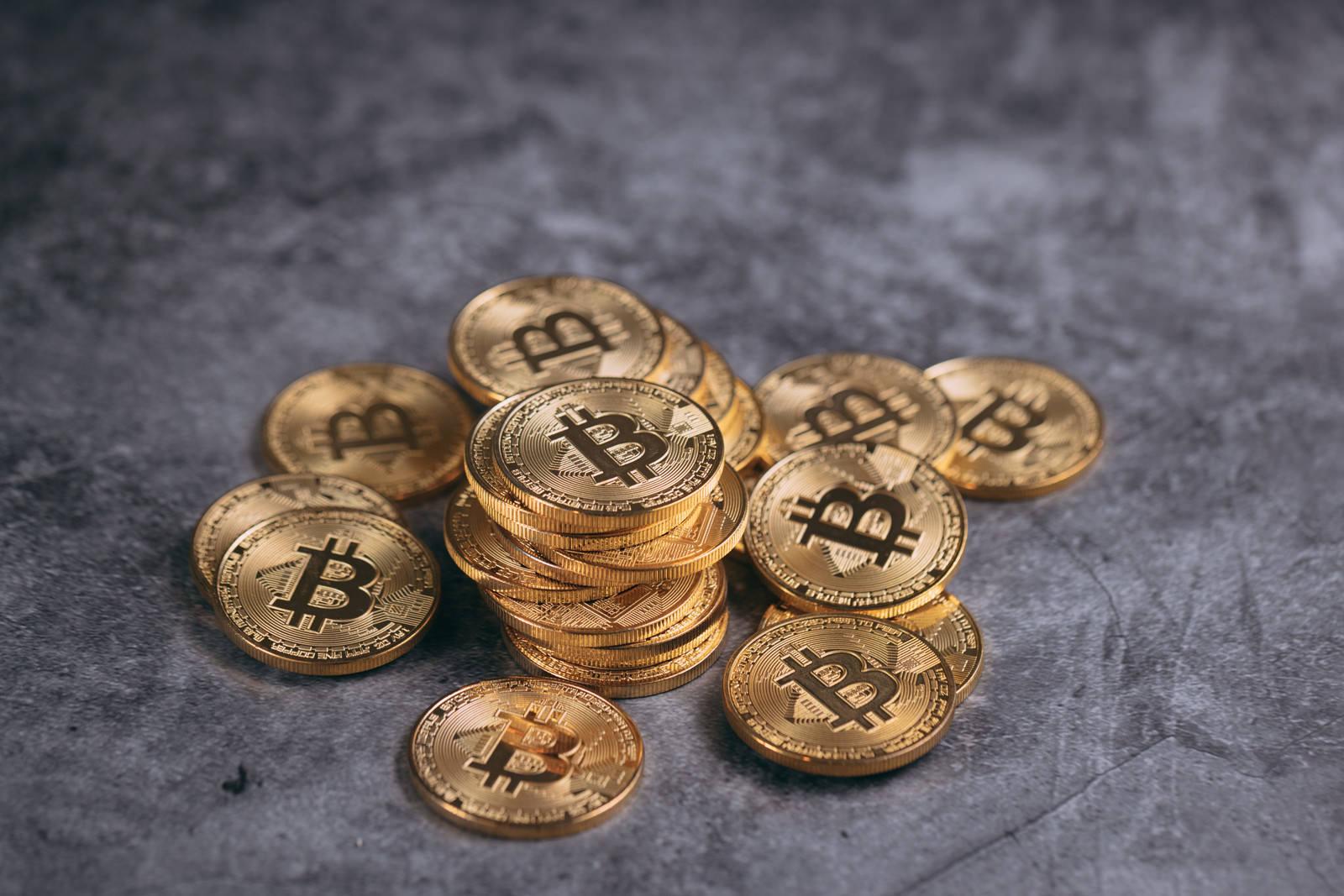「寄せ集めのビットコイン」の写真