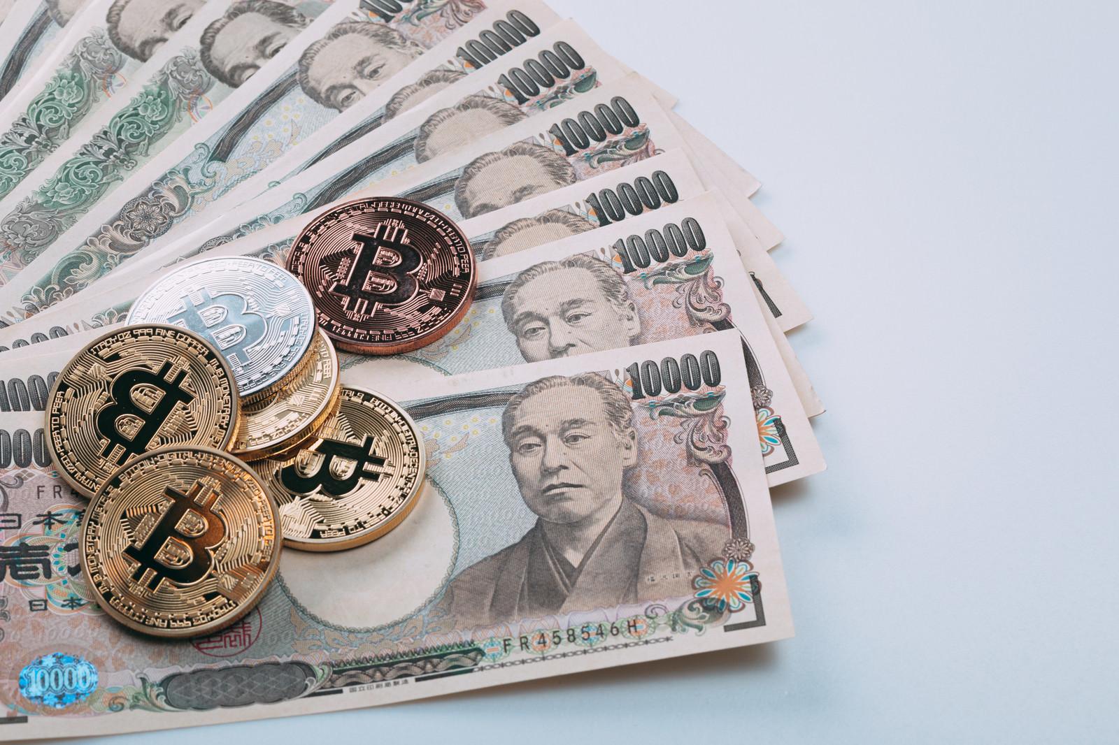 「日本円からビットコインにリスクヘッジ」の写真