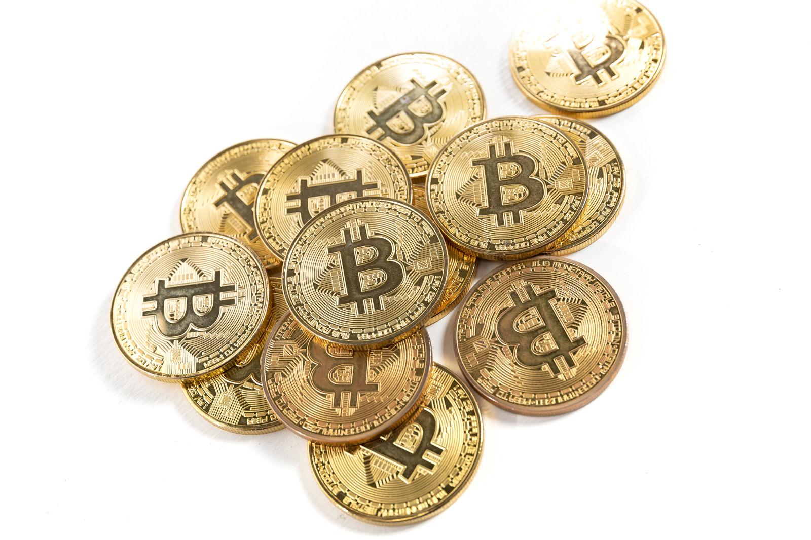 「ビットコインの金貨」の写真