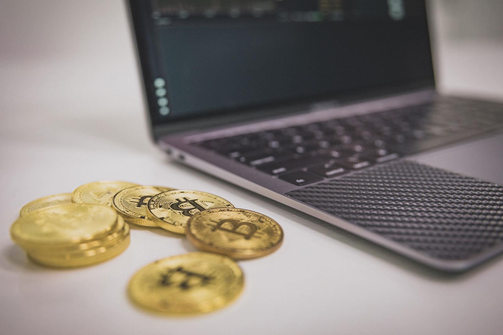 「ビットコインの電子売買」の写真