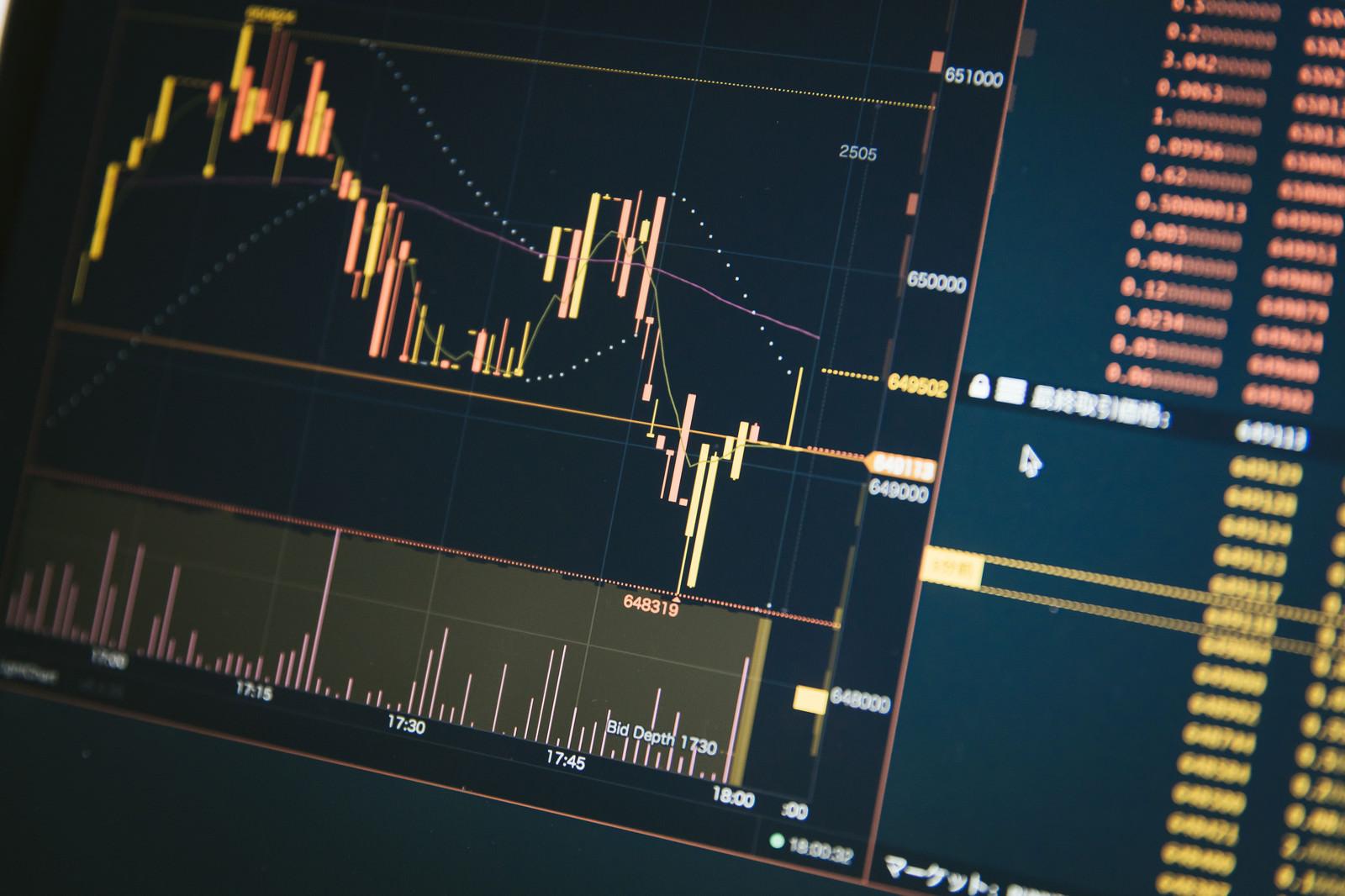 「仮想通貨のチャート」の写真