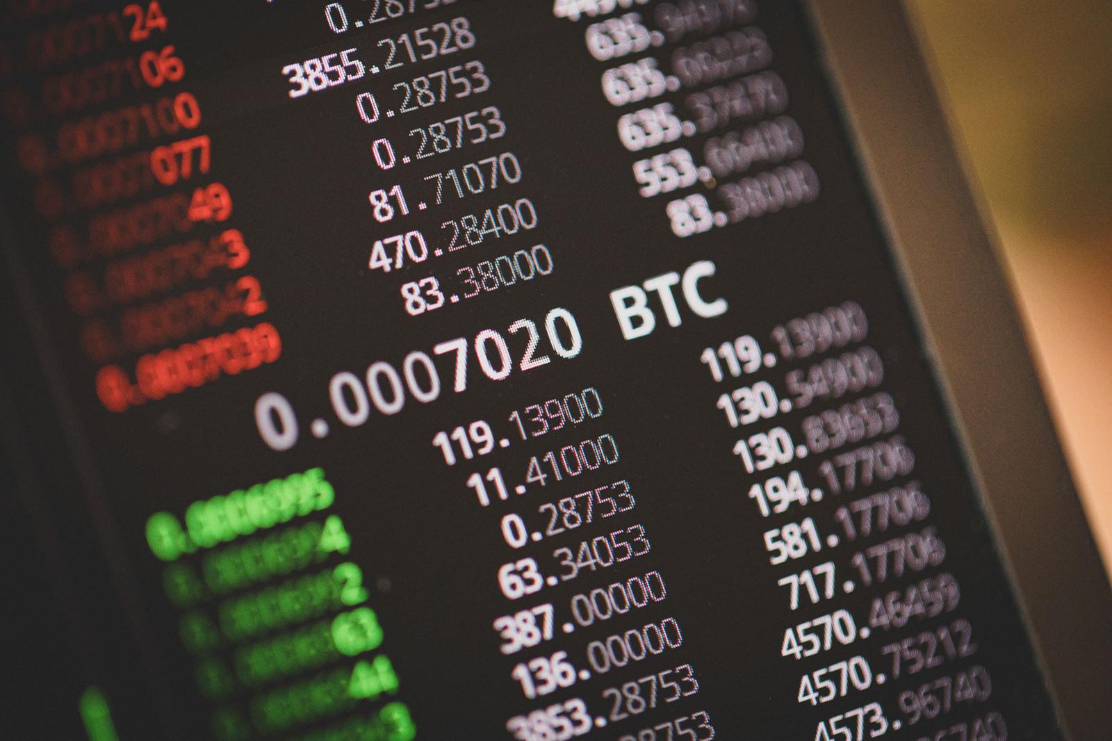 「BTCの売り板と買い板」の写真