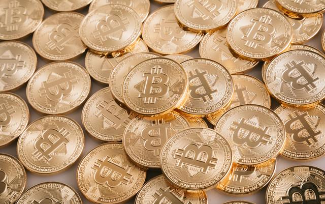 暗号通貨(暗号資産)ビットコインの写真