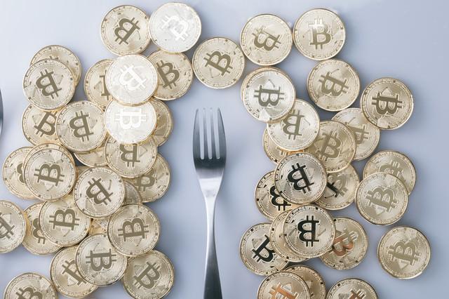 仮想通貨のハードフォークバブルの写真