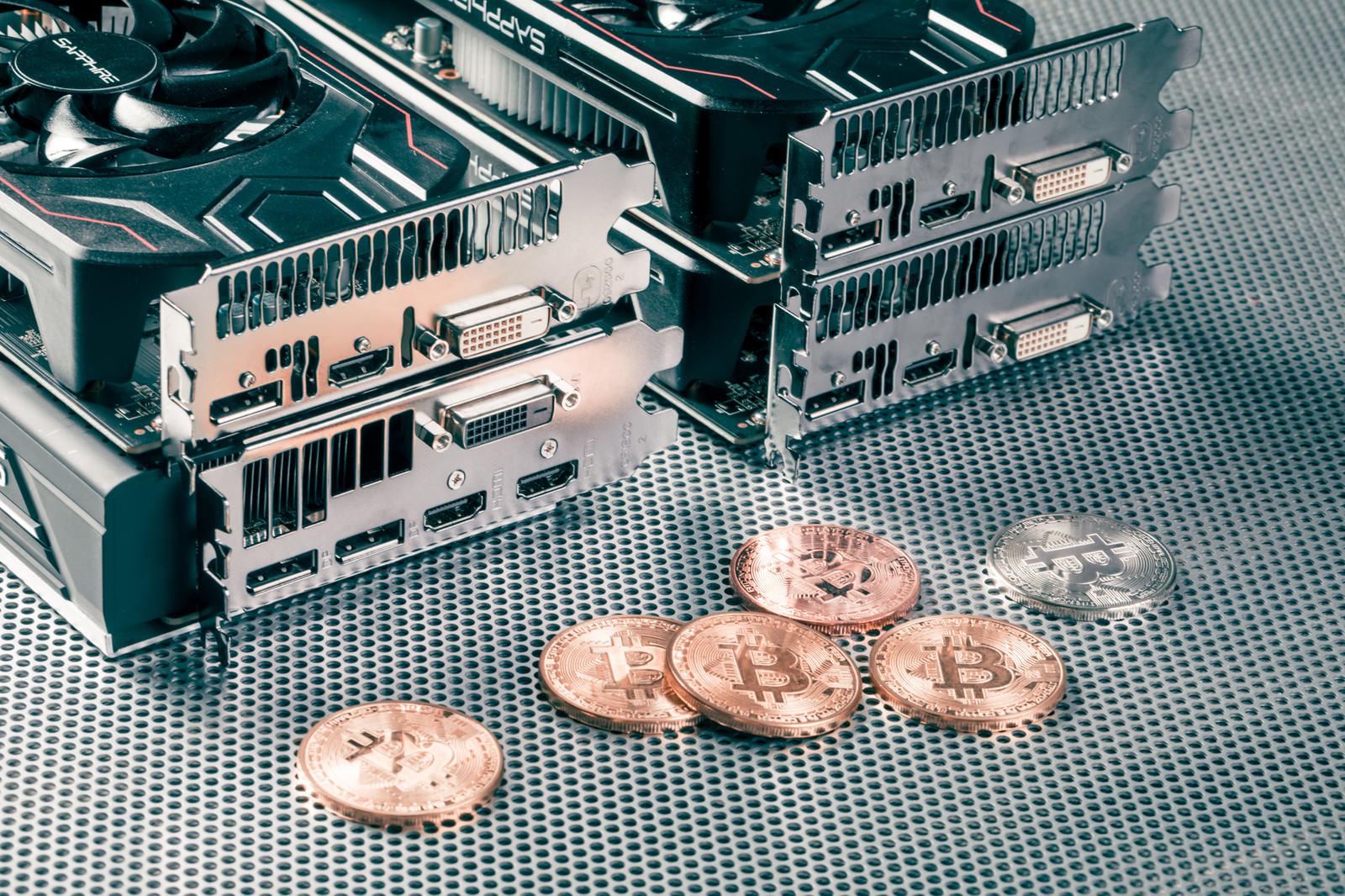 「グラフィックボードとビットコイン」の写真