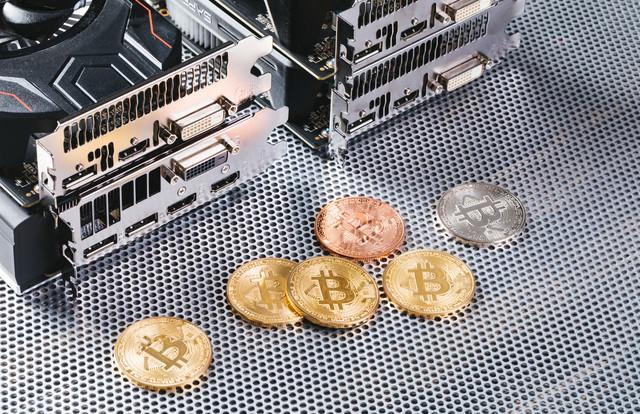 GPUマイニングで採掘したビットコインの写真