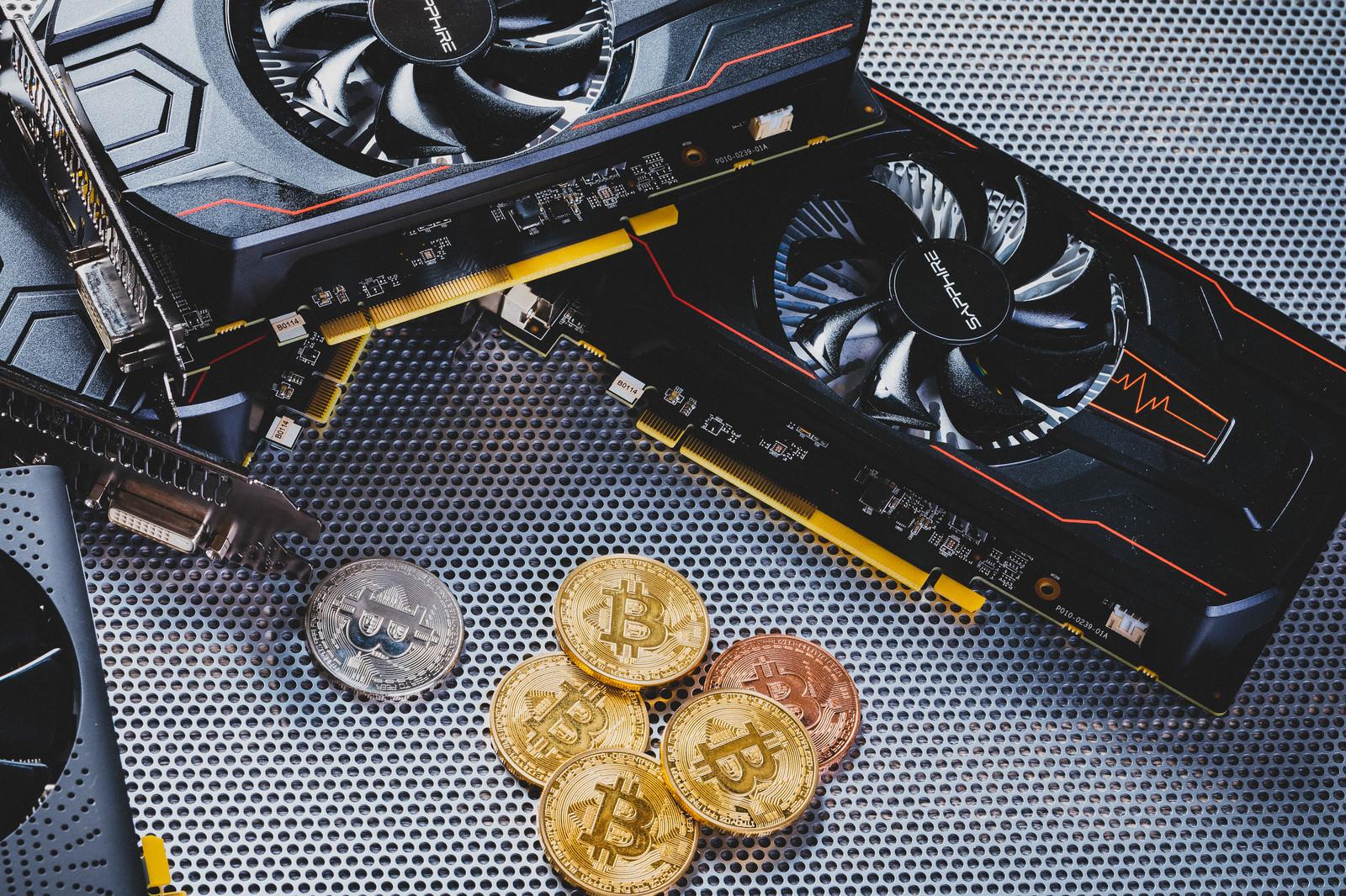 「Bitcoinと採掘して暗号資産を増やす」の写真