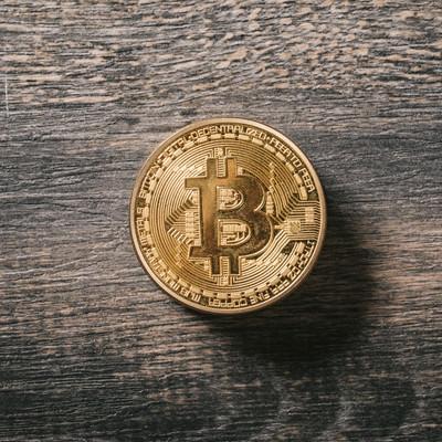 「ビットコインの金貨」の写真素材