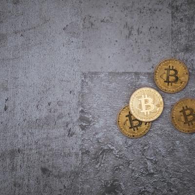 「冷たいコンクリートと仮想通貨」の写真素材