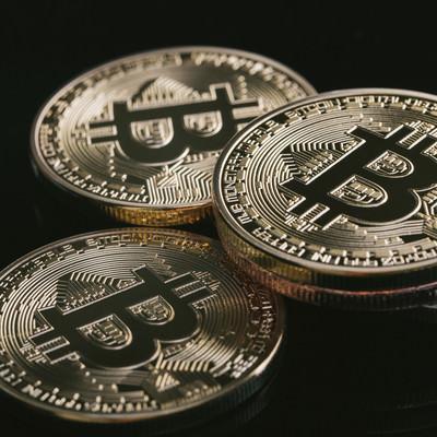 「上場投資信託(ETF)の認可間近と期待されるビットコイン」の写真素材