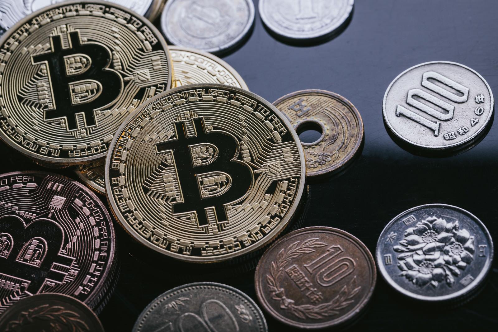 ビットコインと日本円のフリー素材