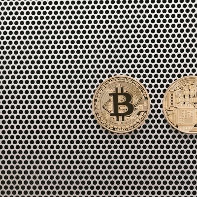 「仮想通貨の表と裏(Bitcoin)」の写真素材