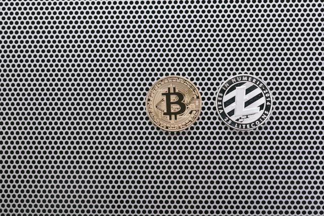 ビットコインとライトコインの写真