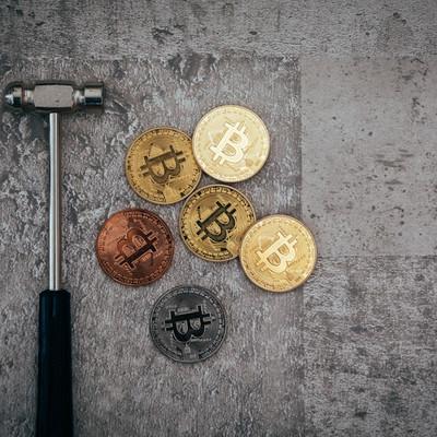 「ビットコインざっくざく」の写真素材