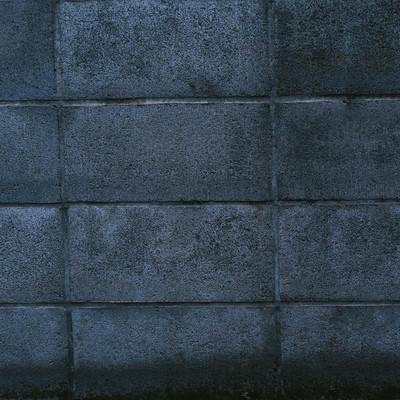 「古い建物のブロック塀」の写真素材