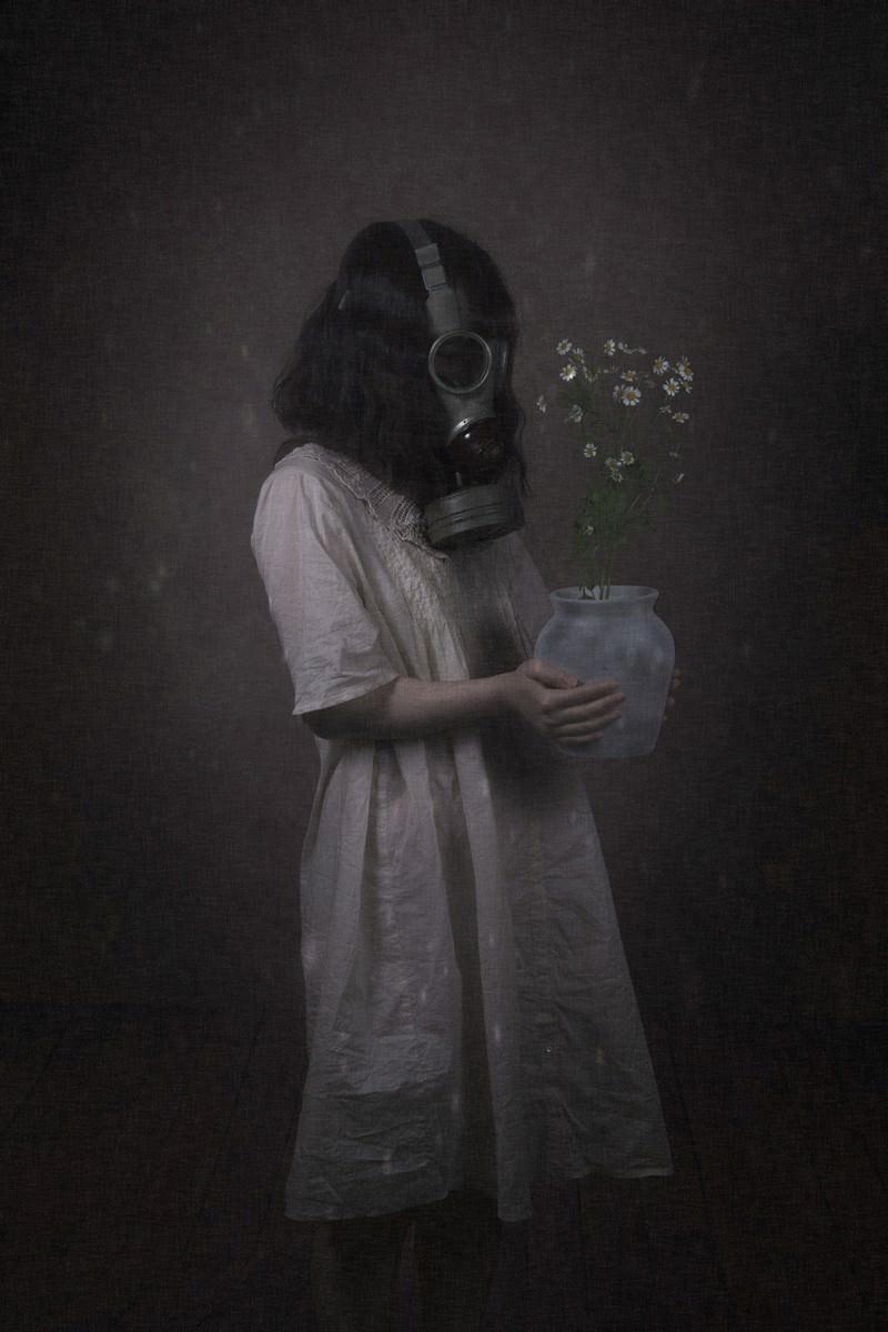 「汚染された土壌から拾い上げたお花」の写真