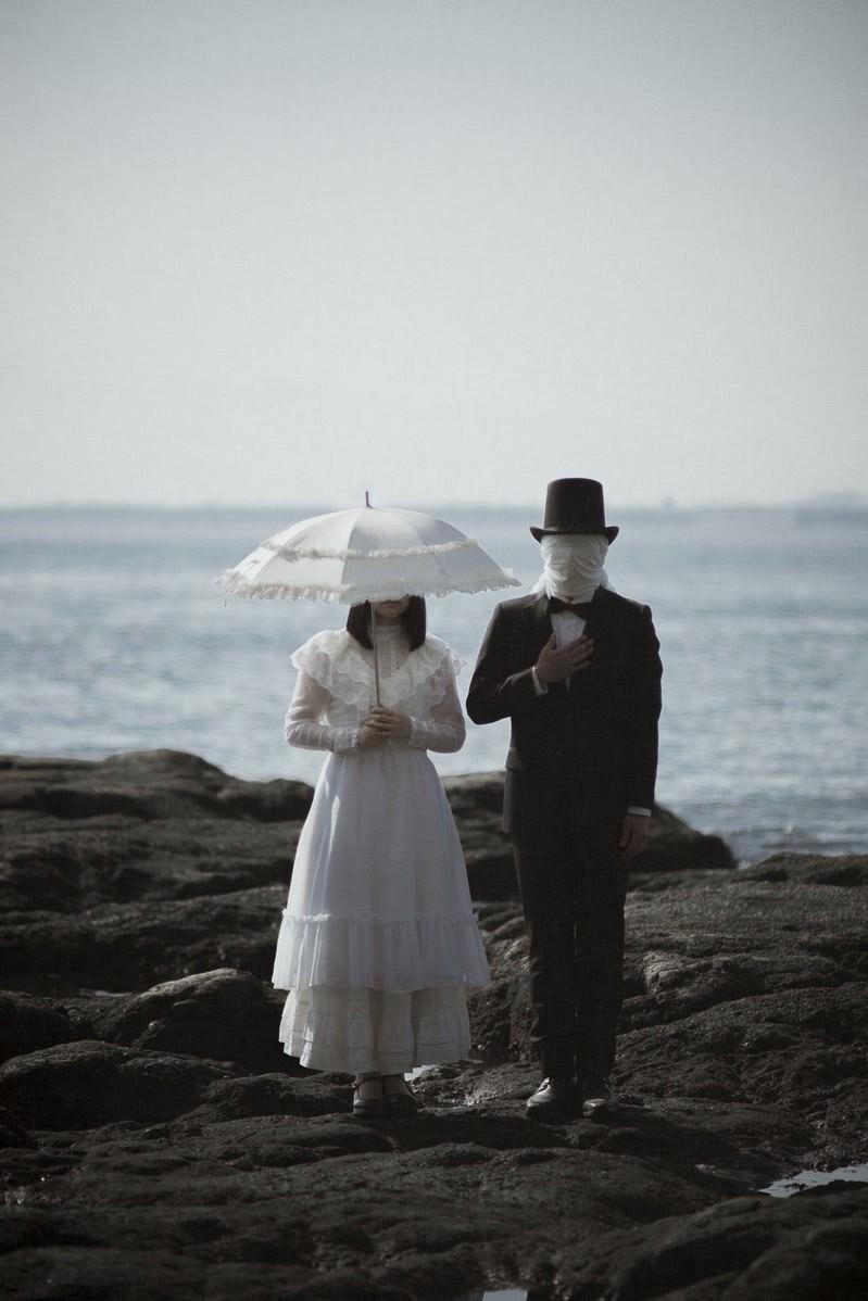 「覆面紳士とお嬢様」の写真