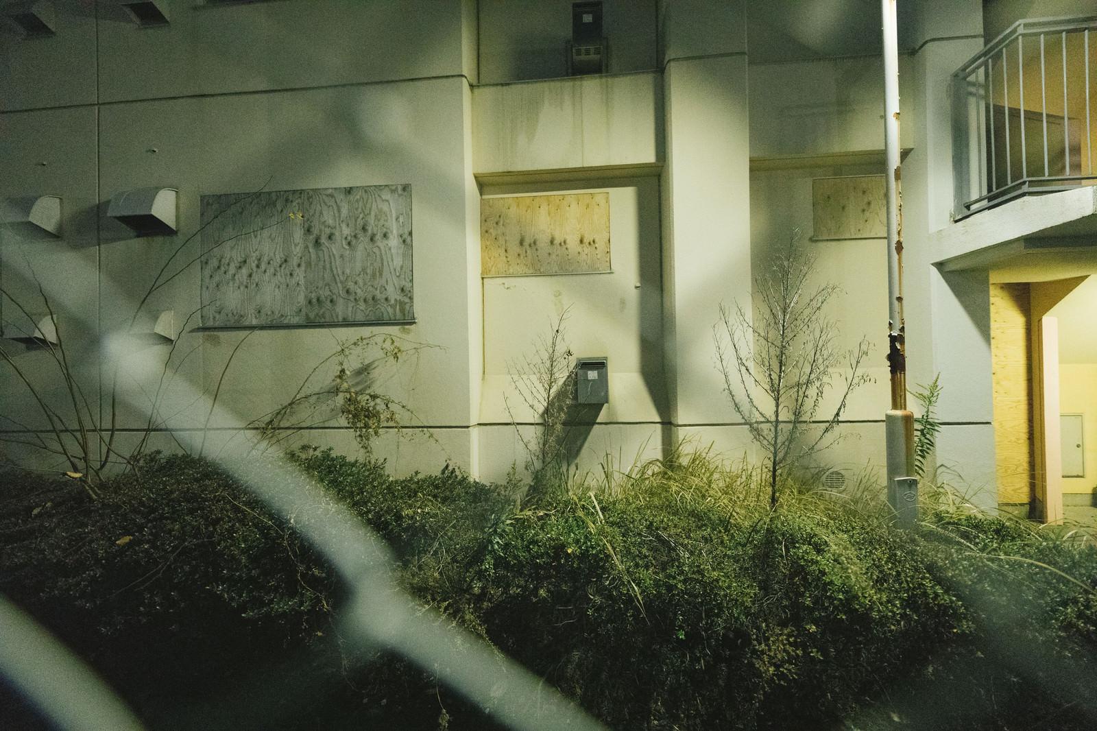 「誰も住んでいいない深夜の団地誰も住んでいいない深夜の団地」のフリー写真素材を拡大