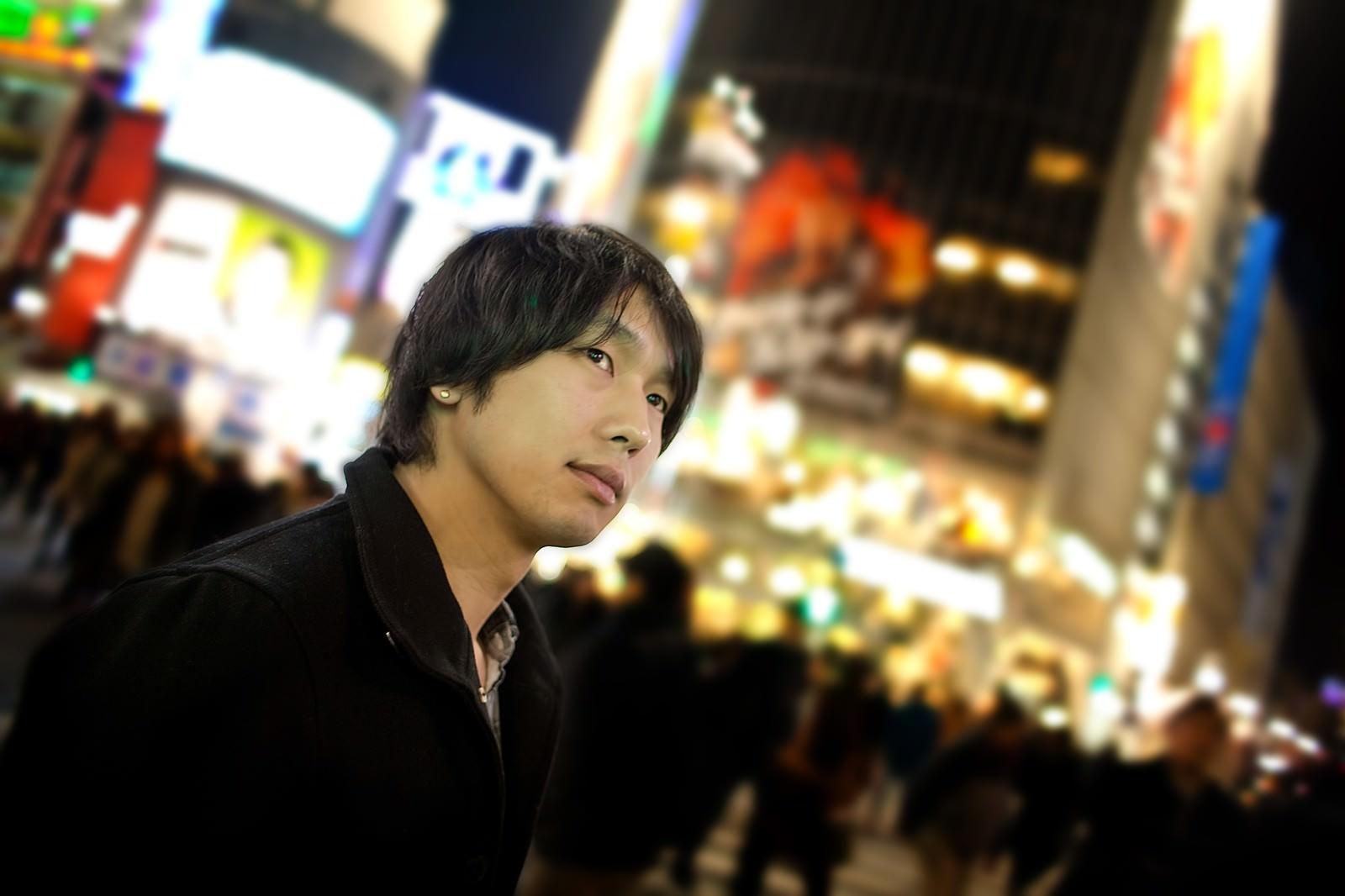 「渋谷の人混み」の写真[モデル:大川竜弥]