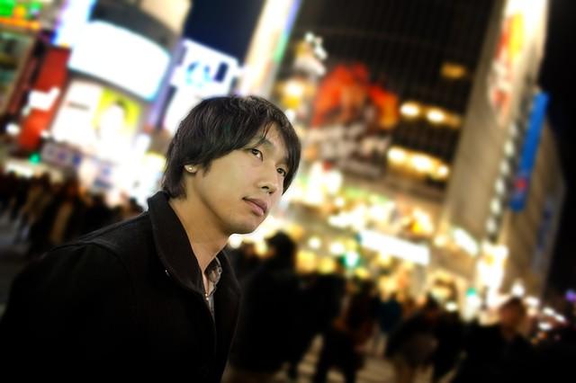 渋谷の人混みの写真