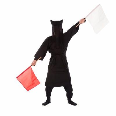 「黒子の手旗信号3」の写真素材
