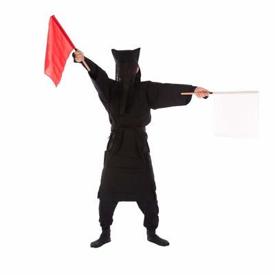 「黒子の手旗信号7」の写真素材