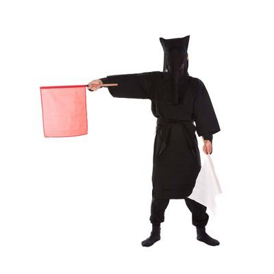 「黒子の手旗信号8」の写真素材