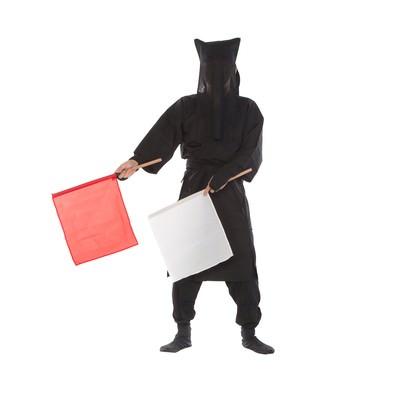 「黒子の手旗信号11」の写真素材