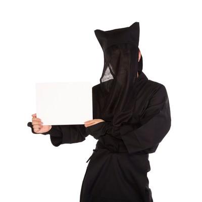 「黒子インフォメーション」の写真素材