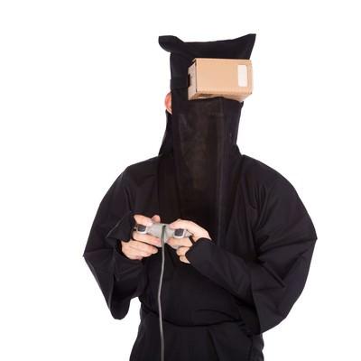 「最近VR系のゲームに嵌ってます」の写真素材