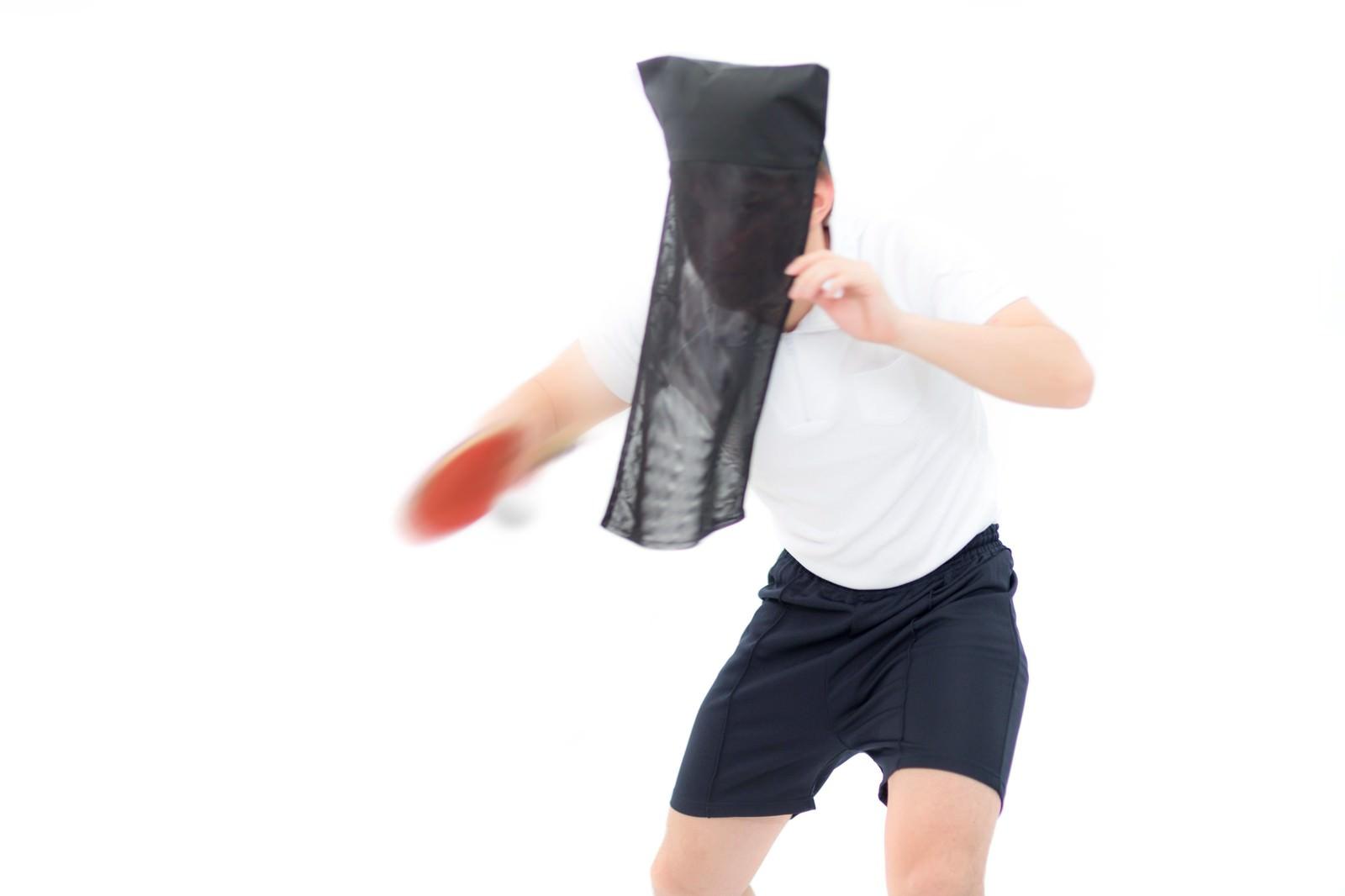 「黒子の卓球黒子の卓球」[モデル:鈴木秀]のフリー写真素材を拡大