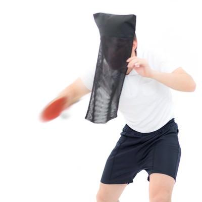 「黒子の卓球」の写真素材