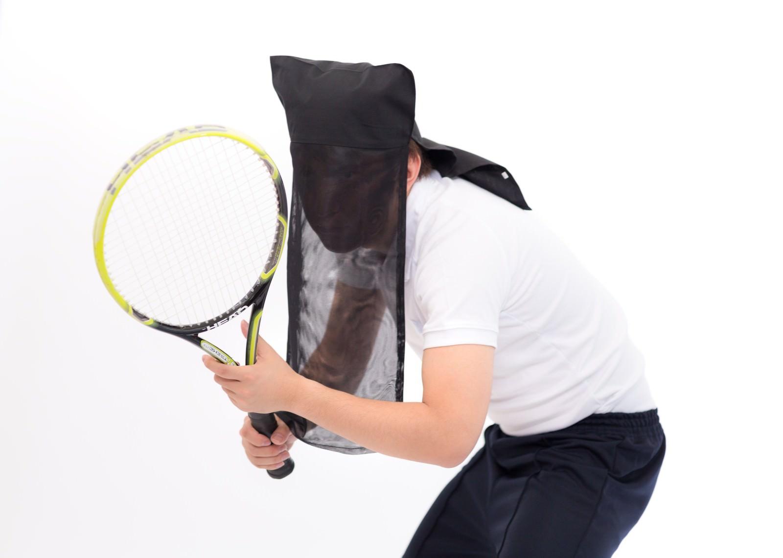 「黒子のテニス(黒子ゾーン)黒子のテニス(黒子ゾーン)」[モデル:鈴木秀]のフリー写真素材を拡大