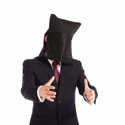 「顔出しできない社長のインタビュー」の写真素材