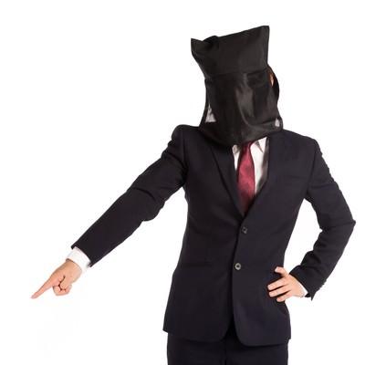 「命令口調の黒子上司」の写真素材
