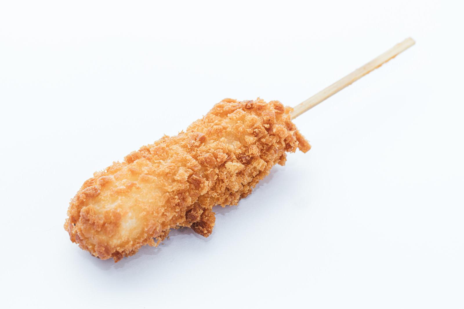 「カリカリのチーズドッグ」の写真
