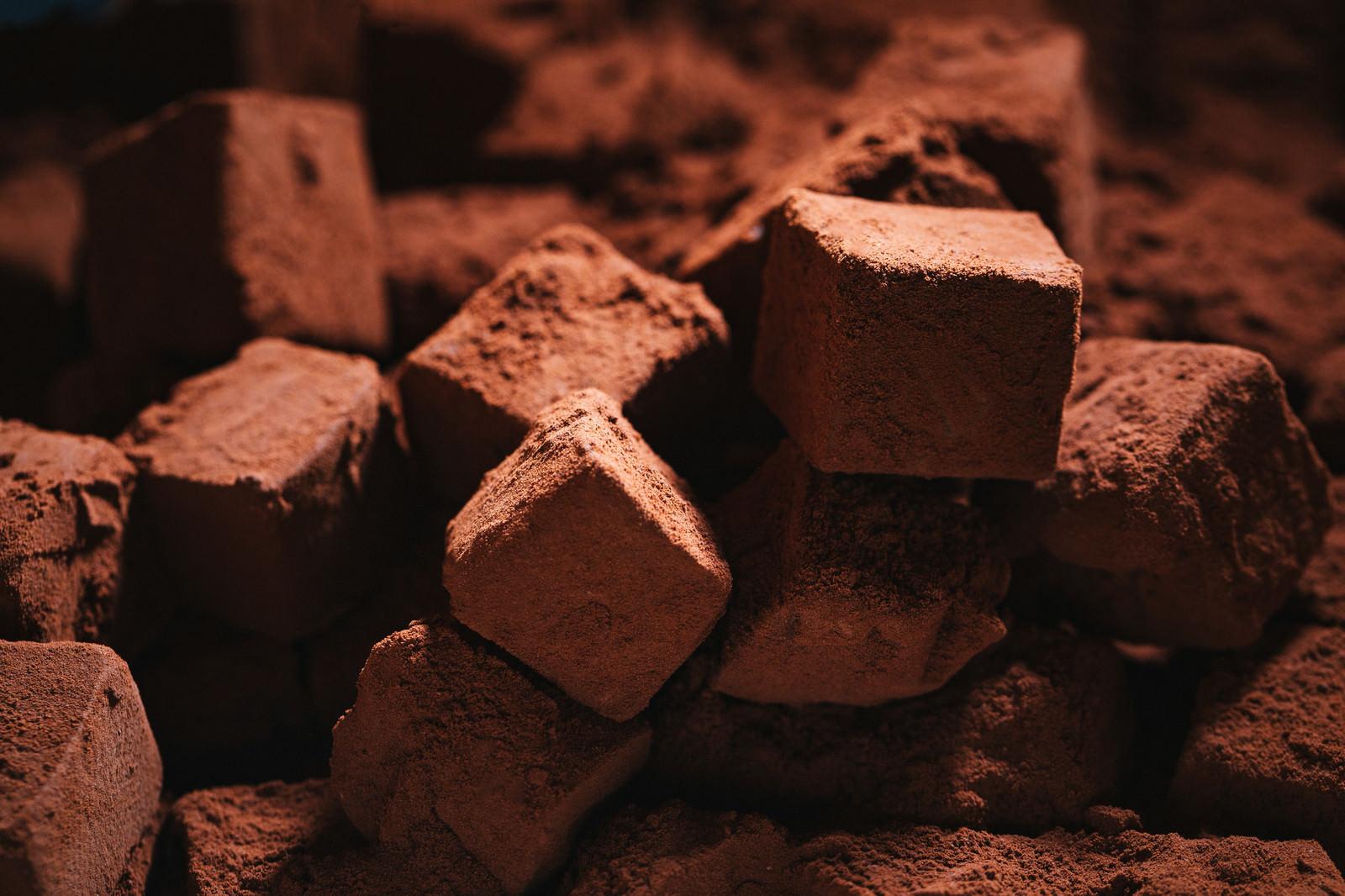 「生チョコのココアパウダー」の写真